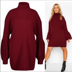 Sz 20- 24 Balloon Sleeved Sweater Dress